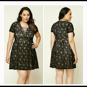 Forever 21 Lace Up Dress 3X